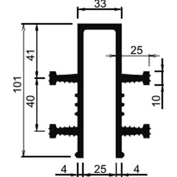 Гидрошпонка EPDM Аквастоп ДЗ-100/25-4/25