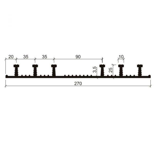 Гидрошпонка EPDM Аквастоп ХО-270-6/25