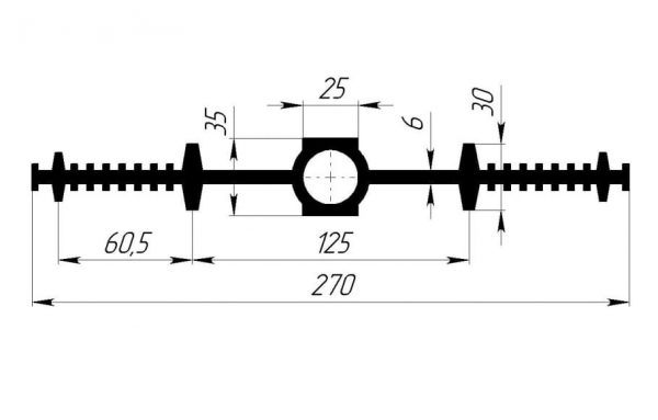 Gidroshponka EPDM Gidrokontur CDR-270K25