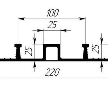 Гидрошпонка EPDM Гидроконтур ОДР-220К25