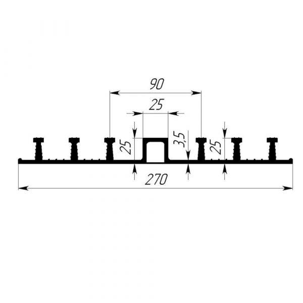 Гидрошпонка EPDM Гидроконтур ОДР-270К25