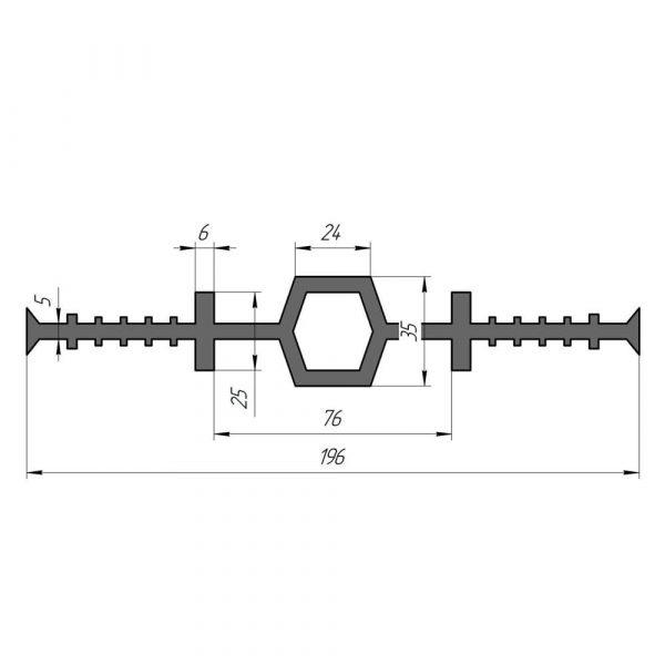 Гидрошпонка EPDM Гидроконтур ЦДР-196К25