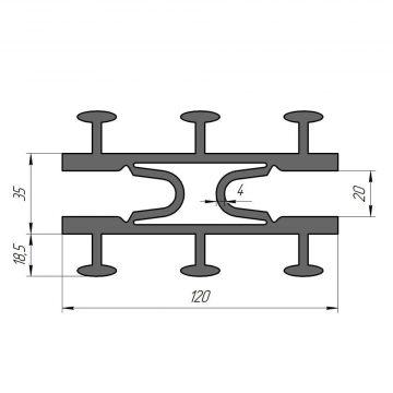 Гидрошпонка ПВХ Гидроконтур ДК-120