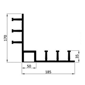 Гидрошпонка ПВХ Icopal ДН-РУ 320/35/50 прижимная внутренний угол