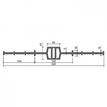 Гидрошпонка ПВХ-П Аквастоп ДВ 320 40