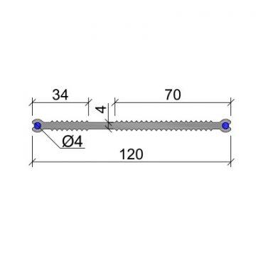 Гидрошпонка ПВХ-П Аквастоп ХВН-120 (2 х D4)