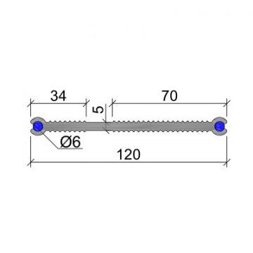 Гидрошпонка ПВХ-П Аквастоп ХВН-120 (2 х D6)